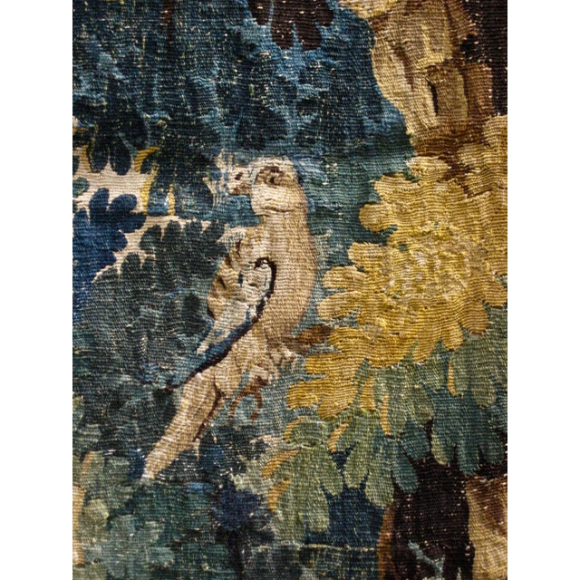 18th Century Flemish Verdure Tapestry Wall Hanging For Sale - Image 10 of 13