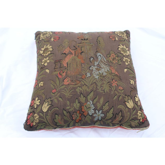 Brown 20th Century Renaissance Style Decorative Pillow For Sale - Image 8 of 8