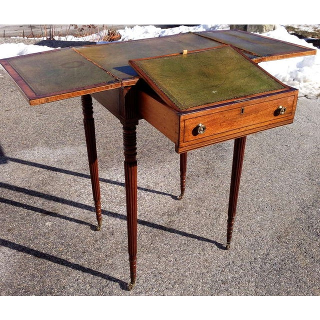 Early 19th Century George III Mahogany Metamorphic Side Table For Sale - Image 4 of 7