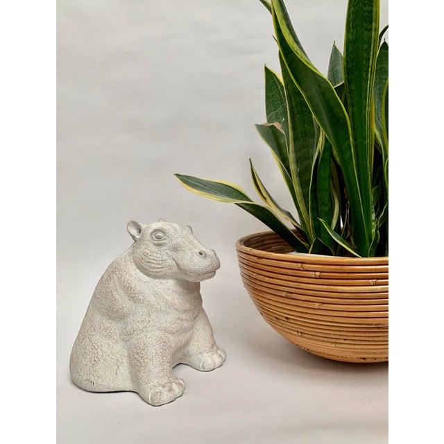 Final Markdown 1980s Paul Bellardo for Austin Productions Cast Plaster Hippo Sculpture For Sale - Image 9 of 11