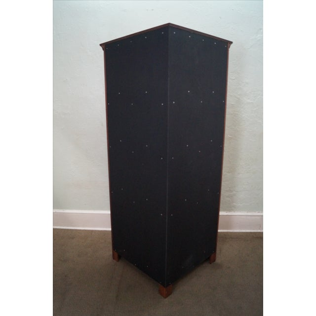 Custom Quality Solid Maple Country Corner Cabinet - Image 4 of 9