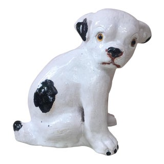 French Terracotta Black and White Dog Bavent