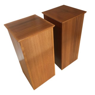 Mid-Century Modern Teak Pedestal Tables - A Pair