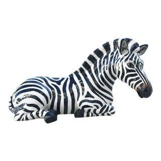 Vintage Ceramic Zebra Figure