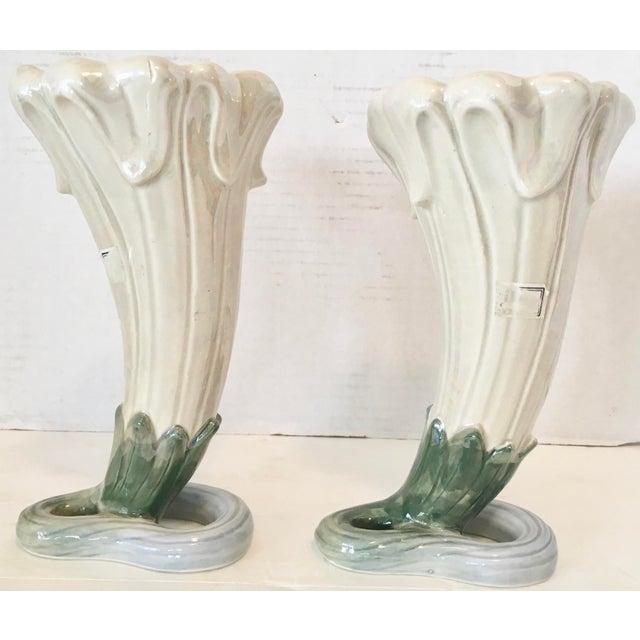 Art Nouveau Fitz and Floyd Art Nouveau Vases 1978 For Sale - Image 3 of 8