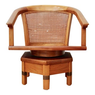 Cane Swivel Chair by Jim Peed