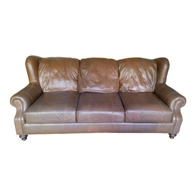 Henredon Leather Sofa