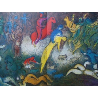 """1969 Dlm Chagall Lithograph """"Chloe Is Carried Off by the Methymneas"""" For Sale"""