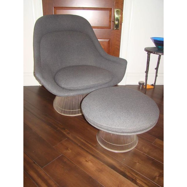Mid-Century Modern Knoll Warren Platner Throne Chair & Ottoman Lounge For Sale - Image 3 of 10