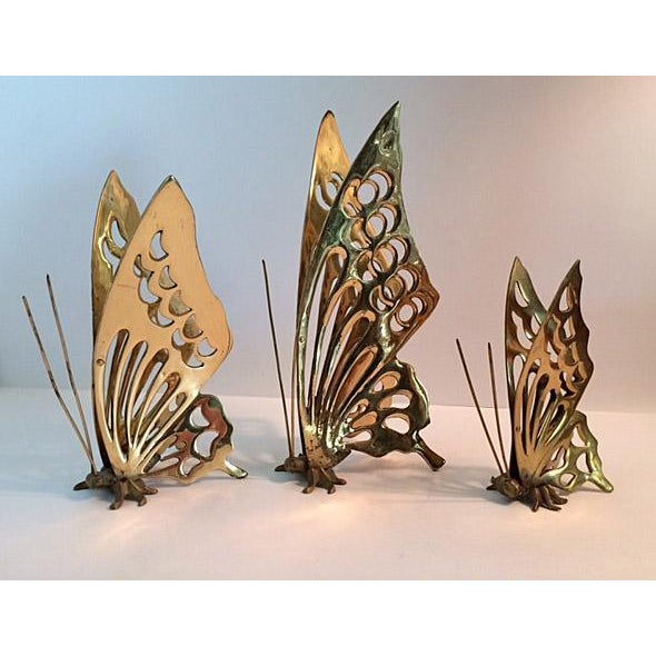 Vintage Brass Butterfly Figurines - Set of 3 - Image 2 of 4