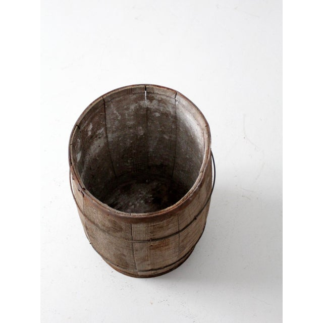 Antique Primitive Wooden Barrel For Sale - Image 6 of 9