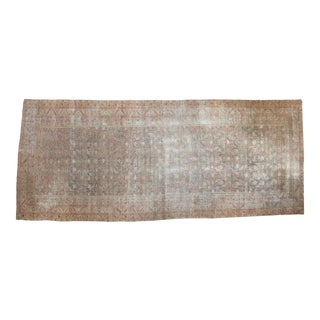 """Distressed Antique Malayer Rug Runner - 7'2"""" x 17'3"""" For Sale"""