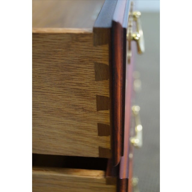 Henkel Harris Solid Cherry Breakfront Cabinet - Image 6 of 10