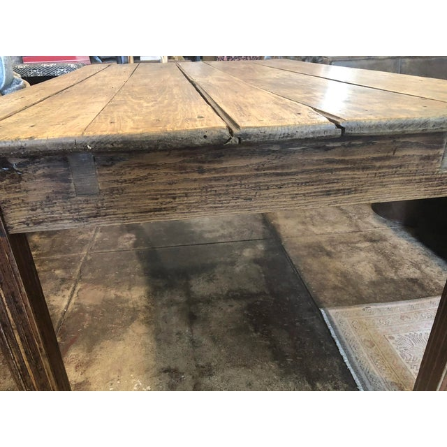 Antique French Farm Table For Sale In Los Angeles - Image 6 of 12