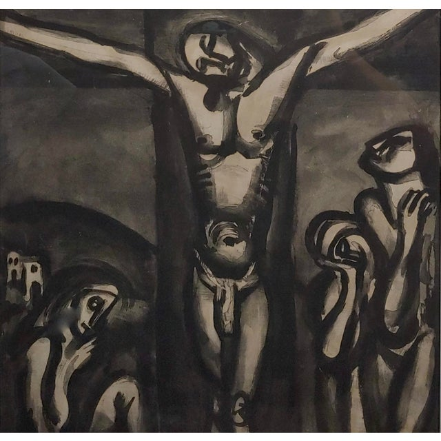 "Georges Rouault ""Love One Another"" 1948 Aquatint and Drypoint Etching For Sale - Image 4 of 7"