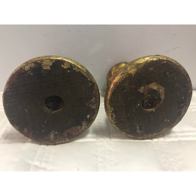 Antique Italian Mirorred Candle Holders - a Pair - Image 6 of 6