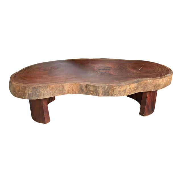 Live Edge Cocktail Table, Belgium 1960's For Sale