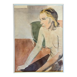 "1932 ""Nude Woman"" Watercolor Painting by Charles Downing Lay For Sale"