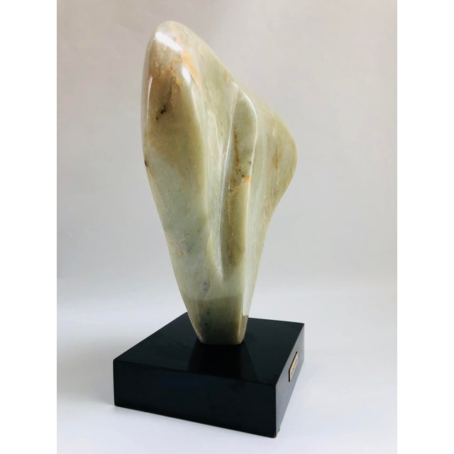 Wood Noguchi Inspired Mid-Century Modern Abstract Biomorphic Marble Sculpture For Sale - Image 7 of 12