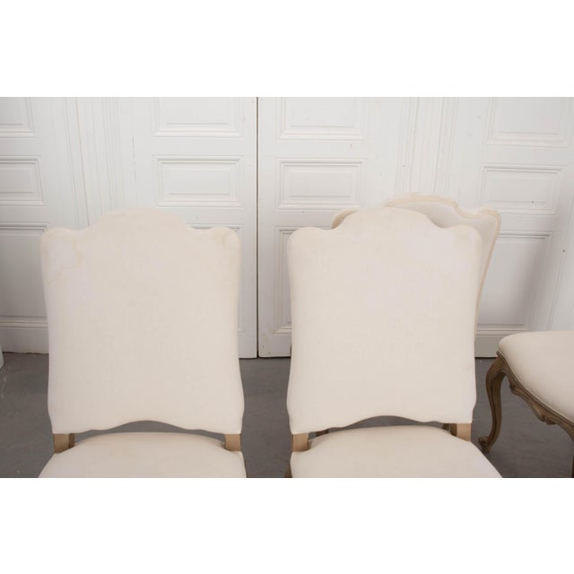 French French Louis XV Style Reproduction Dining / Side Chairs - Set of 4 For Sale - Image 3 of 13