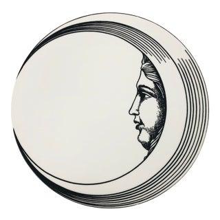 """Italian Porcelain """"Mezzi Soli Mezza Luna"""" Plate by Piero Fornasetti For Sale"""