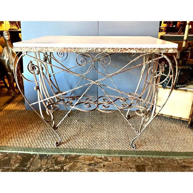 19th Century French Iron and Marble Butcher's Table For Sale - Image 9 of 9