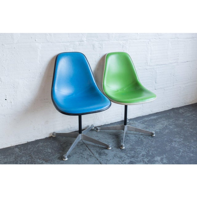 Vintage Eames Upholstered Side Chairs - A Pair For Sale In Portland, OR - Image 6 of 6