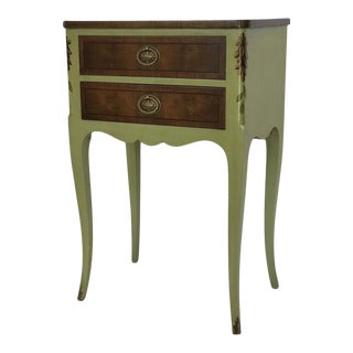 1960s John Widdicomd French Provincial Apple Green End Table For Sale