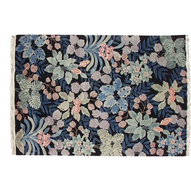Vintage Jungle Carpet - 10' X 14' For Sale