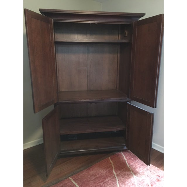 Pottery Barn Solid Wood Entertainment Cabinet / Armoire - Image 3 of 5