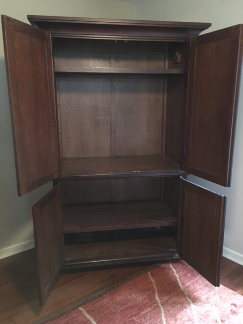 Pottery Barn Solid Wood Entertainment Cabinet / Armoire   Image 3 Of 5