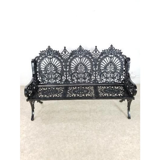 Antique American Cast Iron Park Bench For Sale - Image 13 of 13