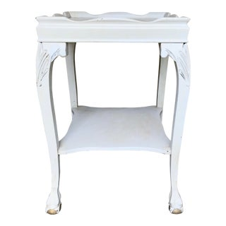 Painted Claw Foot Side Table For Sale