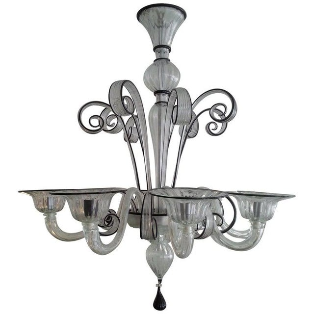 Vintage Murano Louis XV Style Chandelier For Sale - Image 12 of 13