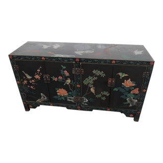 Asian Paint Decorated Cabinet For Sale