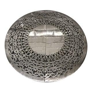 Sheffield Silver-Plate Pierced Trivet For Sale