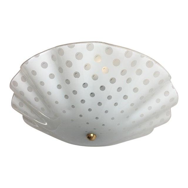 Ruffled Polka Dot Flush Light For Sale