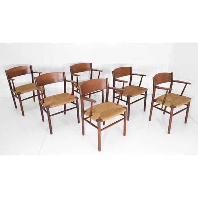 Børge Mogensen Dining Chairs by Søborg Møbelfabrik in Denmark - Set of 6 For Sale - Image 9 of 9