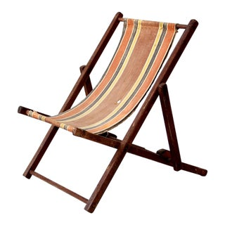 Vintage Children's Deck Chair For Sale