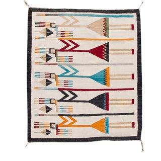Mid-Century Vintage Native American Yei Pictorial Blanket For Sale