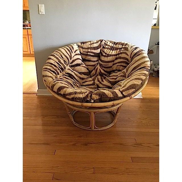 1970s Papasan Chair With Reversible Cushion Chairish