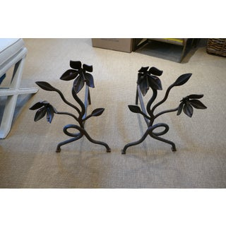Vintage Flower Andirons - a Pair Preview