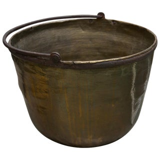 19th Century American Brass Cauldron For Sale