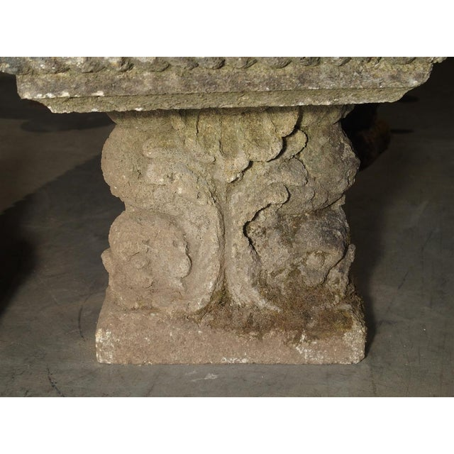 Circa 1900 Reconstituted Stone Dolphins Bench From France For Sale In Dallas - Image 6 of 13