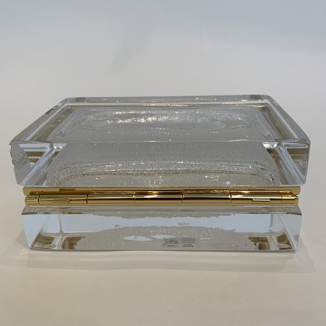 21st Century White Murano Crystal Jewel Box by Mandruzzato For Sale In Los Angeles - Image 6 of 9