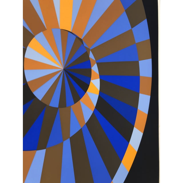 1970s 1972 Vintage Victor Vasarely Limited Edition Official Munich Olympic Serigraph Poster For Sale - Image 5 of 9