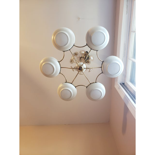 1950s Mid-Century Modern Lightolier Chandelier After Paavo Tynell For Sale - Image 12 of 13