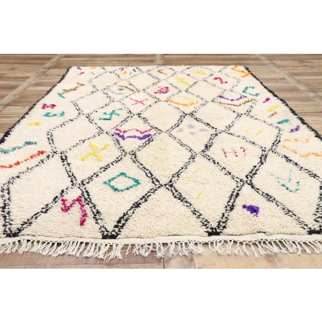 Textile Moroccan Contemporary Berber Azilal Rug - 06'01 X 09'01 For Sale - Image 7 of 10