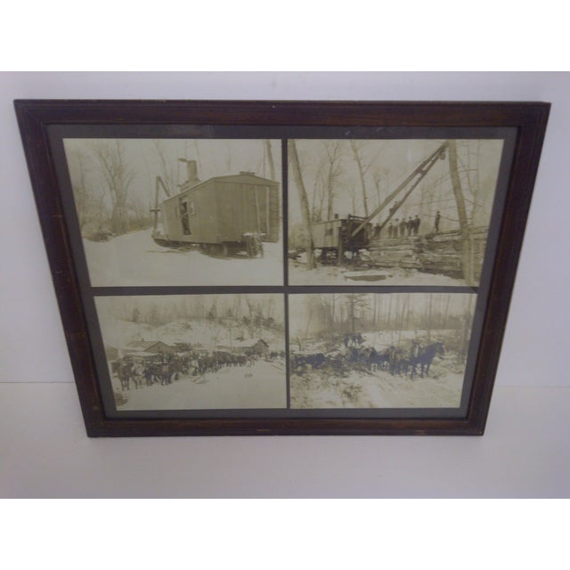"""VINTAGE PHOTOGRAPHS"" -- Logging Company -- Boyne City, Michigan Set Of 4 Different Photographs -- Circa 1900 (Each..."