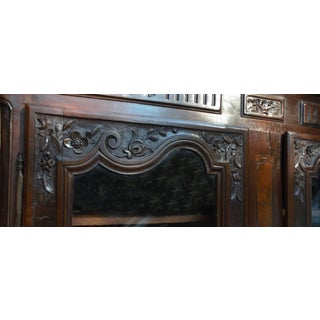 19th Century French Rustic Carved Wood Armoire Preview
